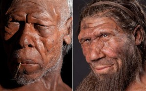 Reconstructions of Early Homo sapiens and a Neanderthal contemporary