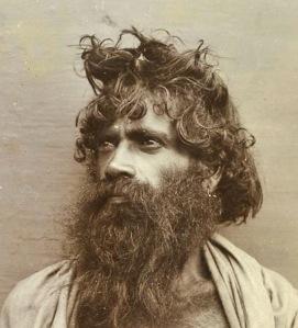 Toda Tribal Man - India 1890's cro ab