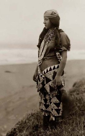 Exquisite detail and design in Native American clothing that shows the wealth of the so-called primitive mind. Edward Curtis, 1923