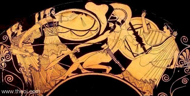 Greek vase painting, scenes from Trojan War; often tell the story like a slide show.