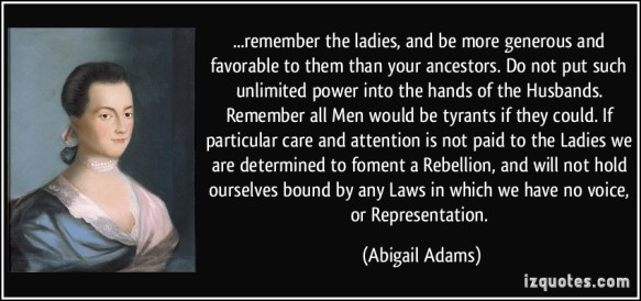 """If the """"Founding Mothers"""" could say this xx years ago, why can't modern women make it happen?"""