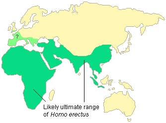 Information about archaic Homo is changing rapidly, so this is a generalized map.