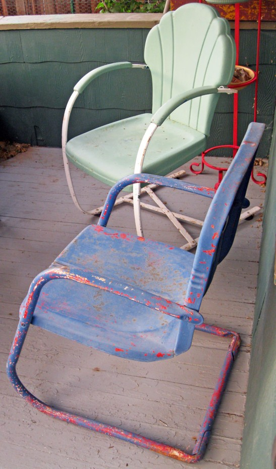 Home is porch chairs that I never sit in.