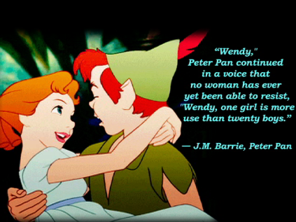"""Even as kids we knew that Peter Pan was """"gay"""" but adults had to lie."""