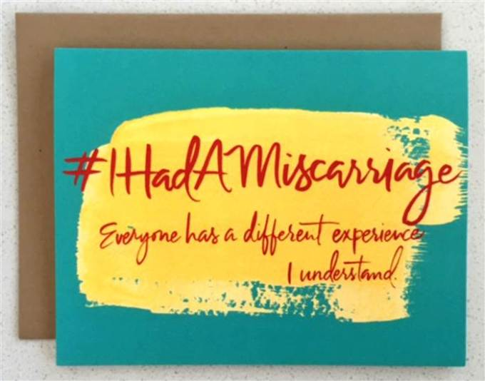 This is an actual card that one can purchase and send to a woman who just had a miscarriage.