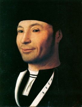Antonello da Messina Portrait of a Man Oil on panel, 12-14 x 9-5/8 in (31x 24.5 cm) Museo della Fondazione Culturale Mandralisca, Cefalu (Palermo)