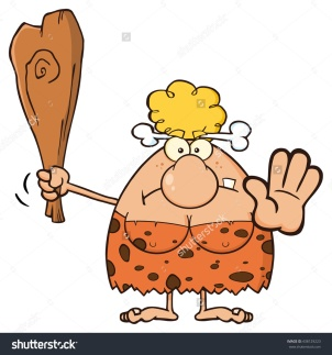 stock-vector-angry-blonde-cave-woman-cartoon-mascot-character-gesturing-and-standing-with-a-club-vector-438129223